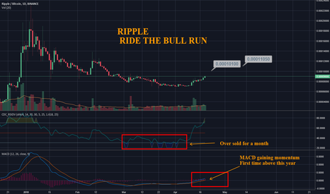 XRPBTC: XRP - RIPPLE - Good Entry Time to Ride the Bull Run