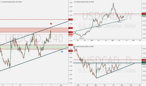 USDCAD: USDCAD ANALYSIS WEEK OF JULY 24, 2016