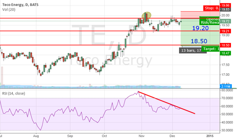 TE: Teco Energy – short position.