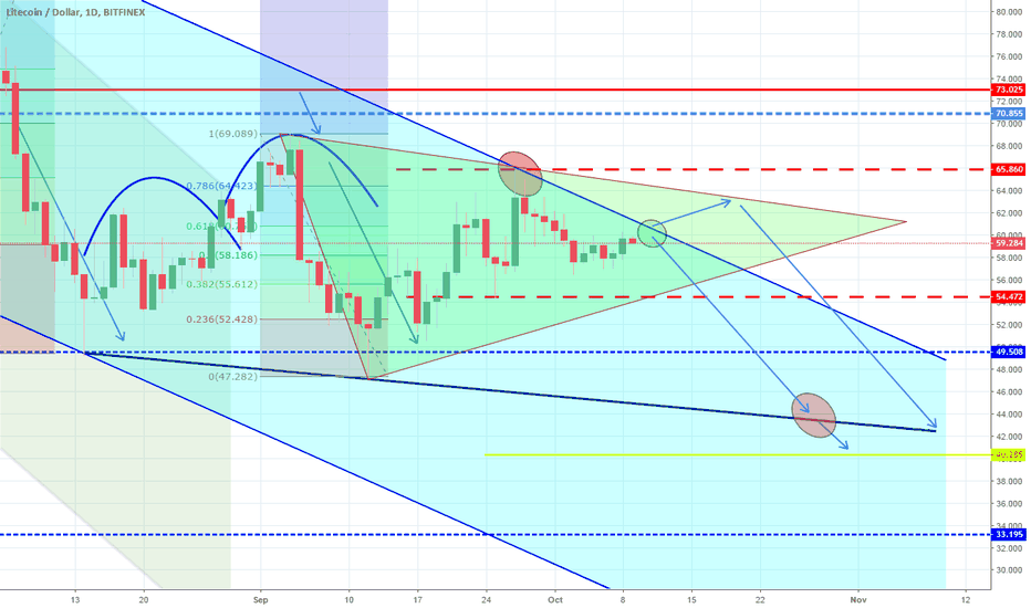 LTCUSD: Triangle continuation test. Still bearish on the long term.
