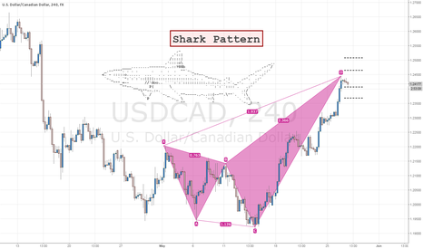 USDCAD: Shark Pattern on USDCAD