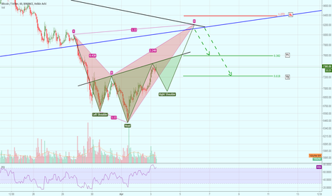 BTCUSDT: Shark Harmonic (v.2) with Inverse Head and Shoulders formation