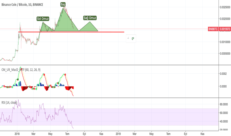 BNBBTC: BNB/BTC Shoulder Head Shoulder Pattern