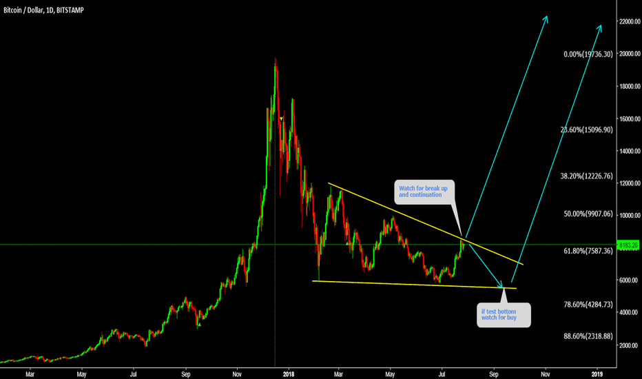 BTCUSD: BTCUSD Will test the top again