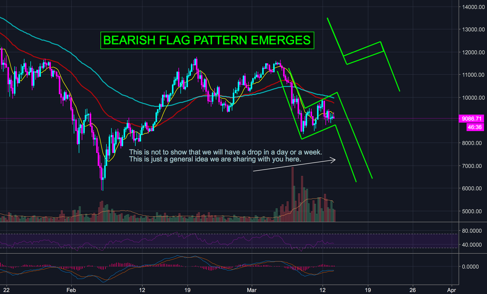 BITCOIN ON A BEARISH FLAG