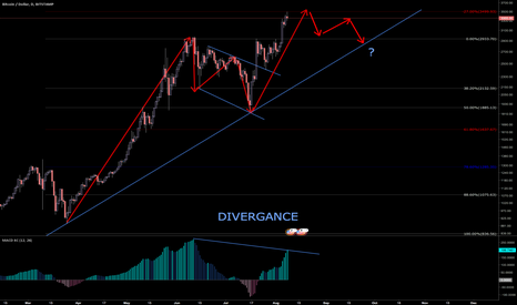 BTCUSD: Expecting a correction back to trend line, but then...who knows?