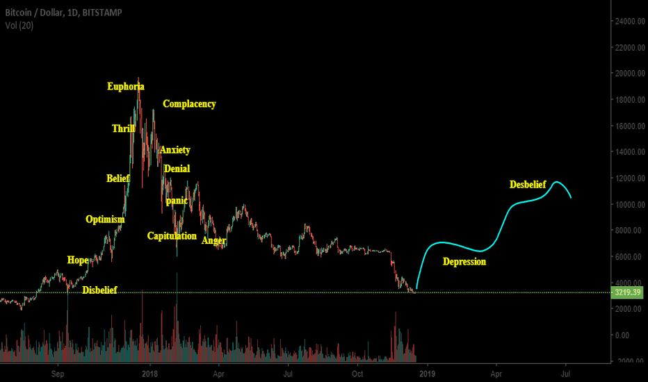 BTCUSD: Psychology of bitcoin market cycle