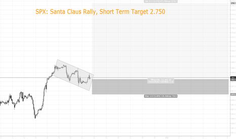 SPX500USD: SPX: Santa Claus Rally, Short Term Target 2.750