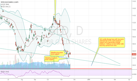 GLD: Long term bull run coming, first we need to retest major support