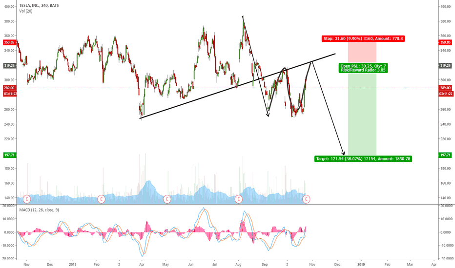 TSLA: TESLA POTENTIAL FLAT CORRECTION FOR ONE MORE WAVE DOWN