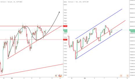 BTCUSD: 6월 9일 BTC 예상가능한 흐름 및 분석(추가하락은 나오지 않았습니다)(큰상승이나올시점)