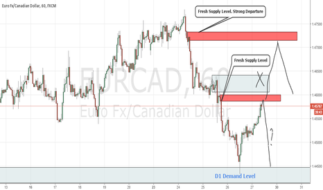 EURCAD: Intraday Fresh Supply and Demand Levels