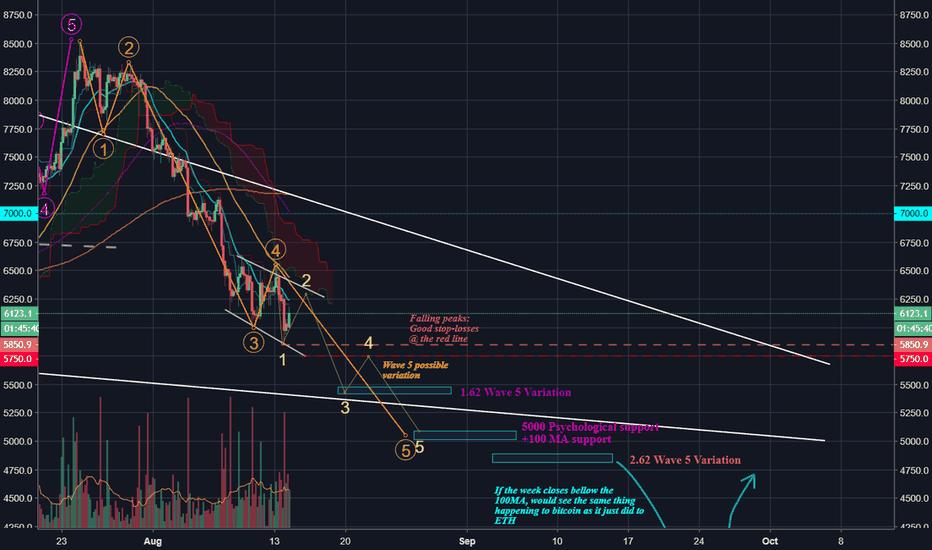 BTCUSD: BTC/USD(Breakdown)Impulsive Elliott waves onto 5/5Labelled chart