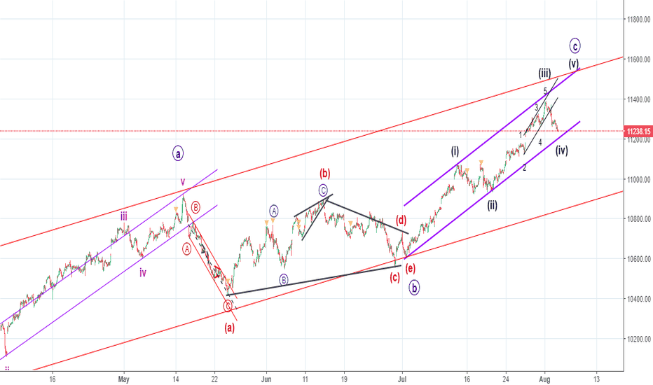 NIFTY: Elliot Wave Nifty - this wave iv will clear the future counts