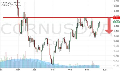 CORNUSD: Продажа кукурузы от уровня 3.53