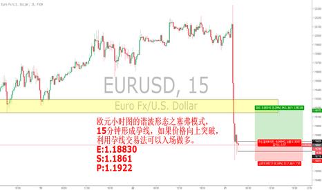 EURUSD: 欧元谐波加孕线