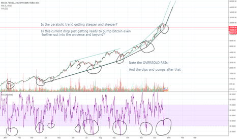 BTCUSD: Bitcoin Parabolic Bull Rally, Healthy Retrace amidst BCH Drama