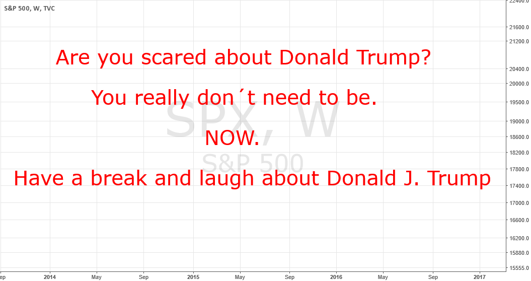 Do not be scared about Donald Trump. Just laugh!