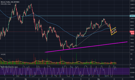 BTCUSD: BTC: Bear Flag, 200EMA and RSI says DOWN!