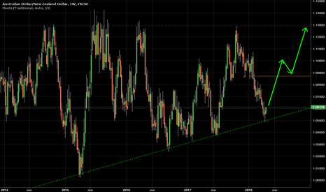 AUDNZD: AUDNZD bounced from the long term trend line