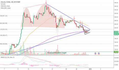 LTCUSD: A Bear Flag and More Downside For LTC