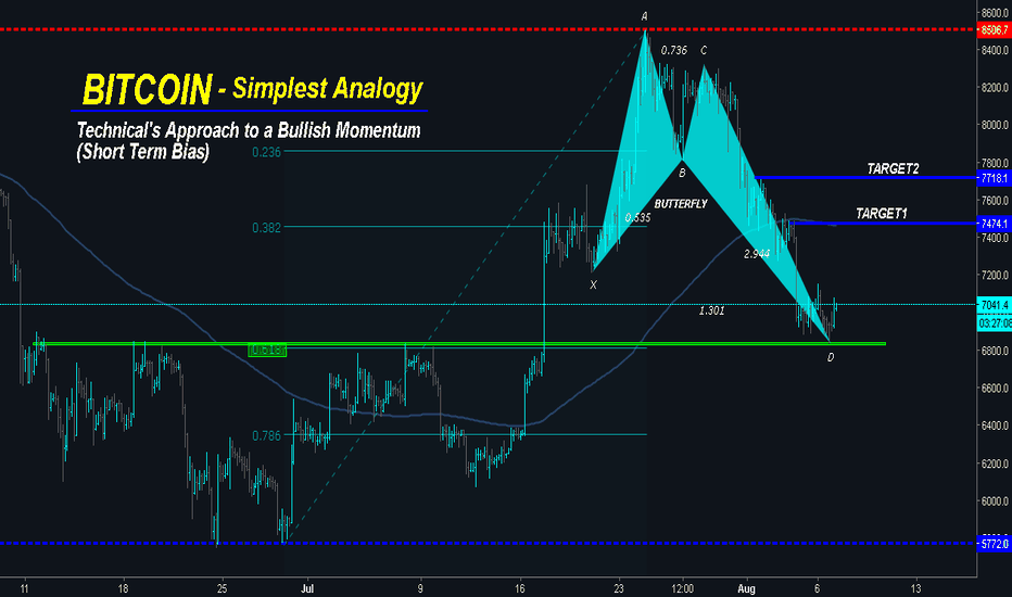 BTCUSD: BITCOIN is Formation BULLISH BUTTERFLY - Potential for Reversal!