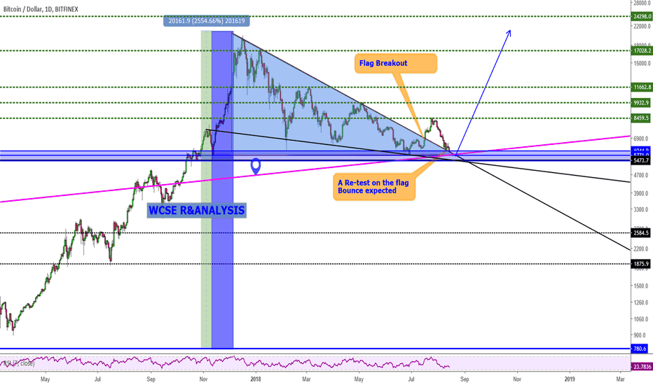 BTCUSD: BTC in Continuation Pattern, Moon time is Near!!!!!