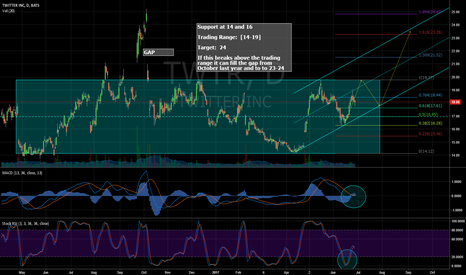TWTR: Double Bottom and Trading Range 14-19