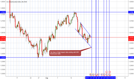 USDCAD: USD/CAD-/ 4 hour/ ten days of data-/ ending with NFP