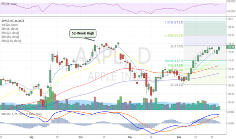 AAPL: Apple with Solid Gains in Post Holiday Trade