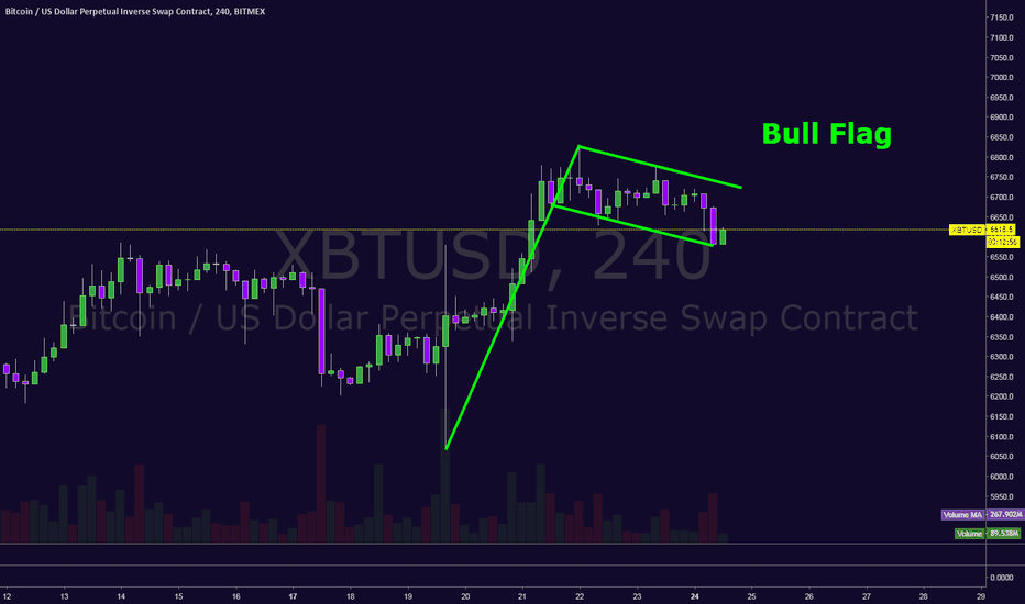 XBTUSD: Bull Flag... ALL chips in?