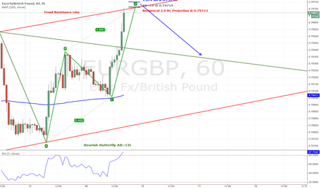 EURGBP: Bearish Butterfly