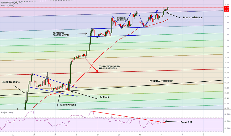 USOIL: WTI resistance break: still long. But...