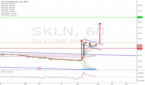 SKLN: LONG SKLN - Break out trade, Flag formation Long from $5.27 to $