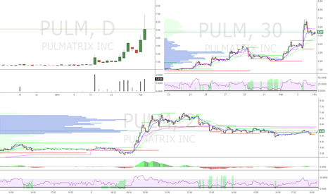 PULM: PULM 2/2/2017 bought at open sold at 5 break