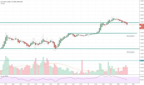 EURUSD: EURUSD short term sell
