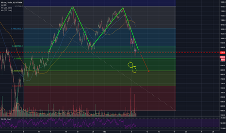 BTCUSD: Double Top neckline Broken.