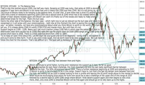 BTCUSD: BITCOIN:BTCUSD In the balance - let chart chart tell next move