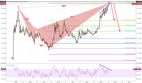 USDMXN: USDMXN SHORT WITH SHARK PATTERN