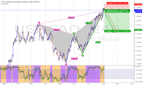 USDCAD: Bearish Butterfly &AB=CD
