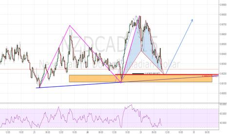 NZDCAD: Trend Continuation Play off bullish bat pattern
