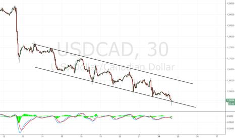 USDCAD: USD/CAD: canale di breve termine su grafico 30m