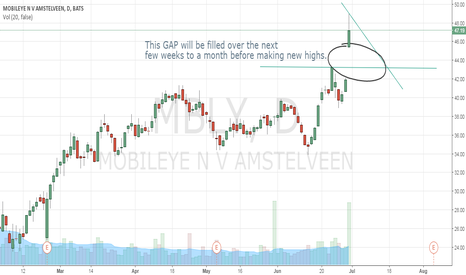 MBLY: GAP UP will need to be filled