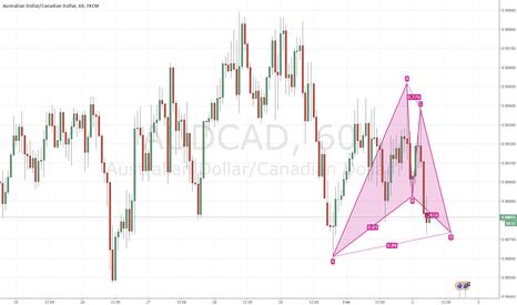AUDCAD: AUDCAD / 1hour / Gartley pattern / buy