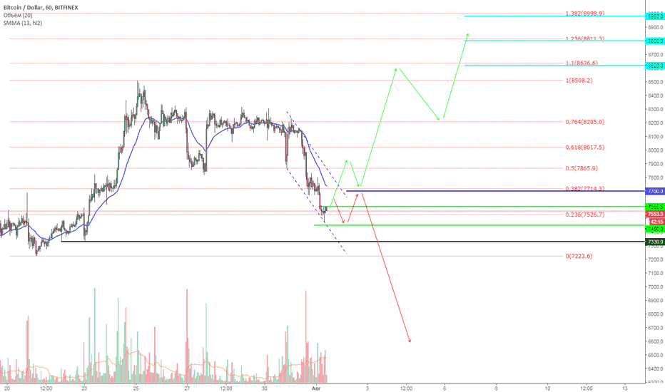 "BTCUSD: BTC ""One Good Trade"" (спорно) 01.08.2018"