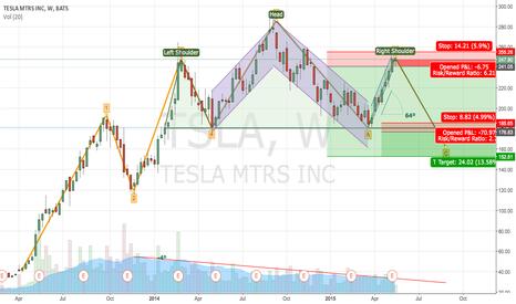 TSLA: TSLA possible Head & Shoulders + Elliott Wave