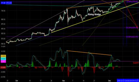 BTCUSD: BTC Potential Rising Wedge/Bear Divergence