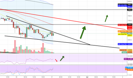 BTCUSD: BTC relief wave upwards after panic selling and fear