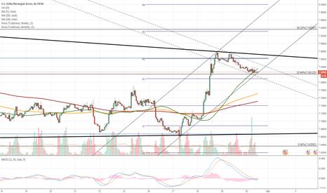 USDNOK: USD/NOK 1H Chart: Bearish correction expected