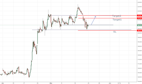 INDIACEM: strong support at 203 (INDIACEM 1 hr chart)